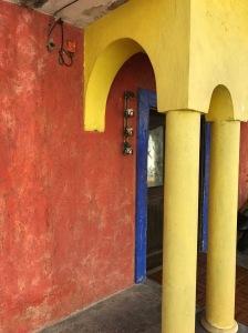 Colorful portico